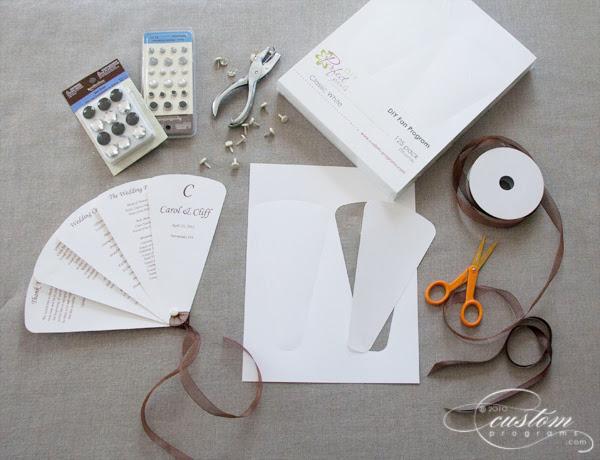 diy folding fan program wedding fan fan wedding program