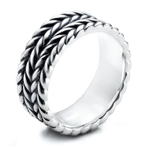 Men's Sterling Silver Braided Band #101206   Seattle