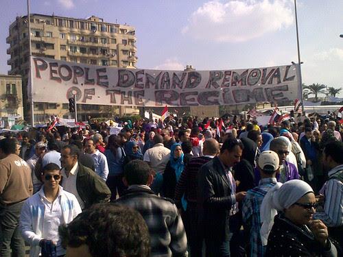 Tahrir Square, Tues 8 Feb 2011