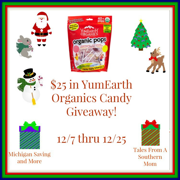 Enter the YumEarth Organics Giveaways. Ends 12/25