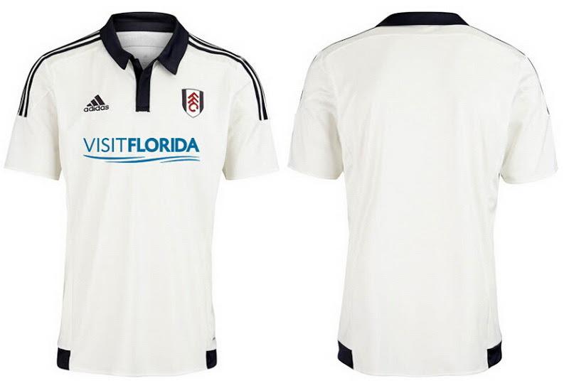Adidas Nueva equipación del Fulham 2015 2016El Adidas Nueva primera equipación del Fulham 2015-16 cuenta con un diseño clásico con los tradicionales colores del club blanco y negro después de la temporada pasada Camiseta Fulham local 2015 2016 introdujo golpear aplicaciones naranja.El frontal del Adidas Nueva equipación del Fulham 2015-16 es sólido de color blanco y cuenta con ningún logotipo patrocinador todavía.Inspirado por la camisetas de futbol baratas utilizada en la final 1975 de la Copa FA, el Nueva equipación del Fulham 2015-16 cuenta con un cuello polo negro que contrasta con botones de presión.Tradicionalmente, 3 rayas negras Adidas corren por las mangas de la clásica Nueva equipación del Fulham 2015-16.Pantalones cortos negros con blanco 3 rayas y calcetines blancos completan la única nueva camiseta del Fulham local 2015-2016.