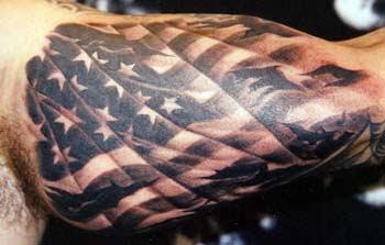 Usmc Flag Tattoo On Rib