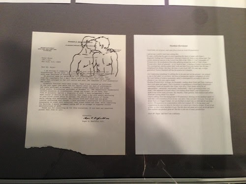 David Wojnarowicz/Peter Hujar document & responding text, Fales Library, NYU