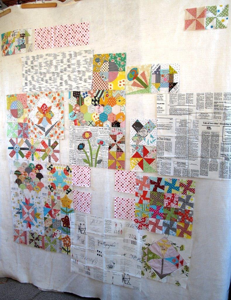 Progress on Green Tea quilt