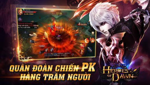 trang chủ game Heroes of Dawn và cách nạp thẻ vào game