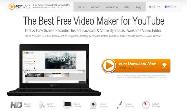 EXViD 8 Aplicaciones gratuitas para registrar su pantalla de ordenador