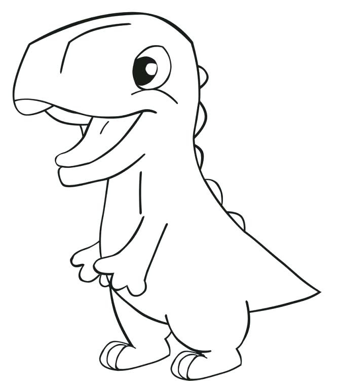 Easy Baby Dinosaur Coloring Pages Coloring And Drawing