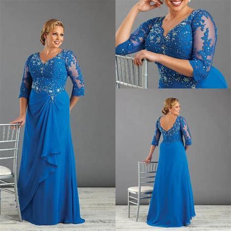 Royal Blue Long Mother of the Bride Dresses Plus Size