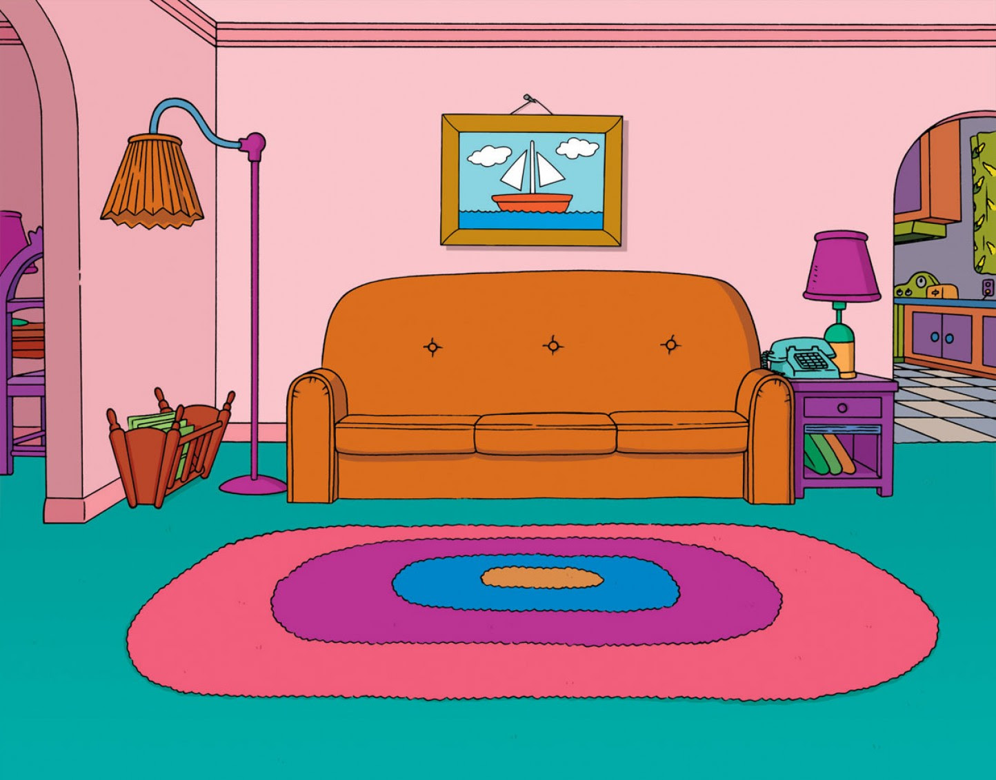 living room clipart 7