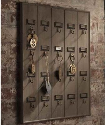 Vintage Wooden Hotel Key Rack - eclectic - hooks and hangers ...