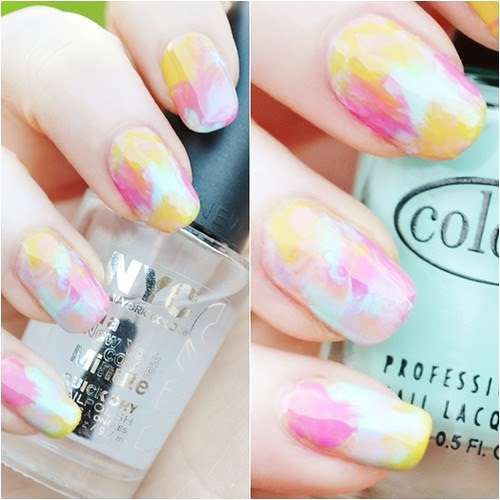 Watercolour nails