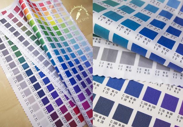 CottonBee.pl colour palette, wzornik, mapka kolorów, tkaniny, bawełna