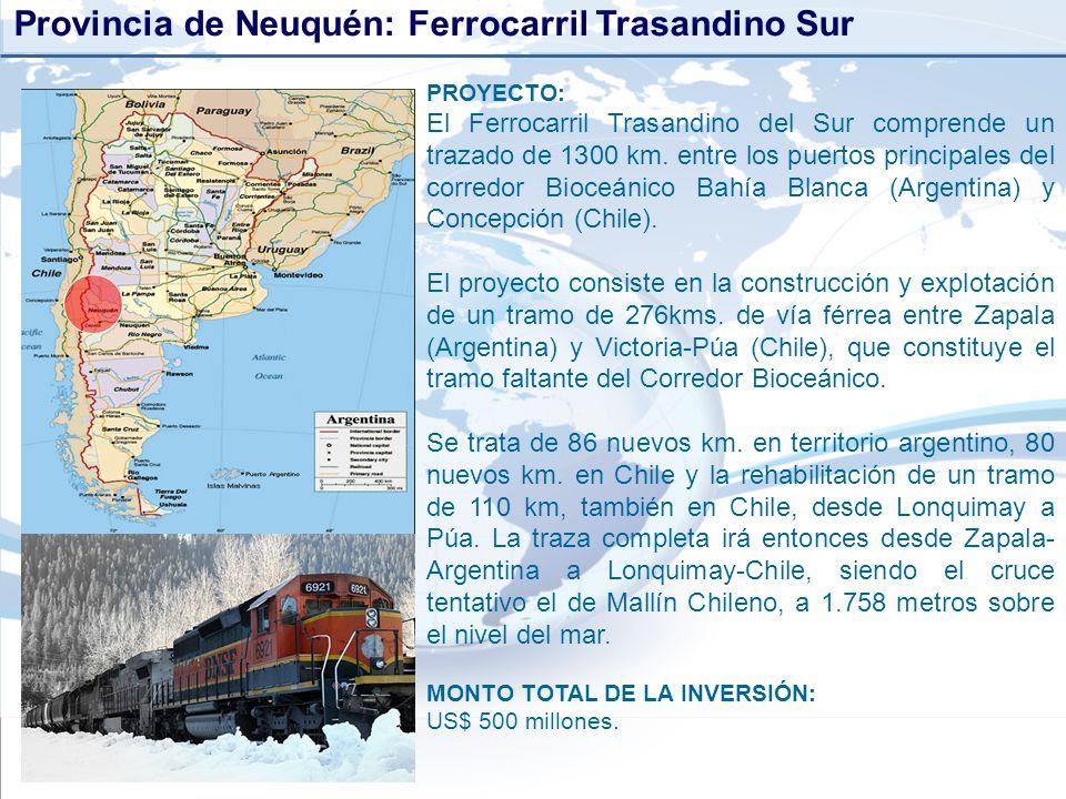 Resultado de imagen para proyecto Ferrocarril Trasandino + neuquen
