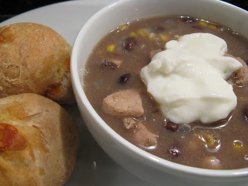 chicken, black bean & corn soup