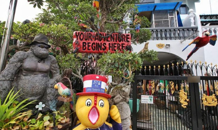 Mr Cheong said he spent at least $150,000 creating the theme park on his estate. PHOTO: SHIN MIN DAILY NEWS