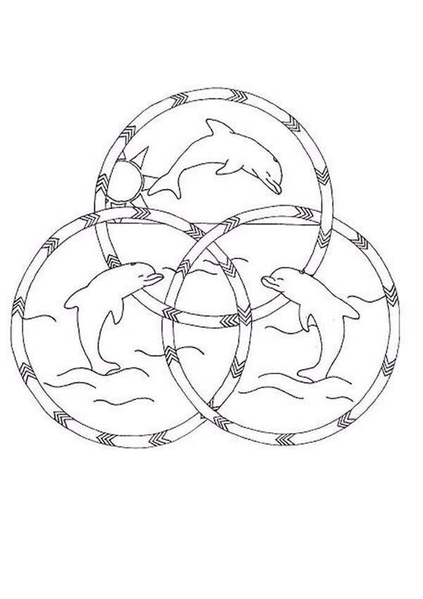 Dibujos Para Colorear Mandala Hermosos Delfines Eshellokidscom