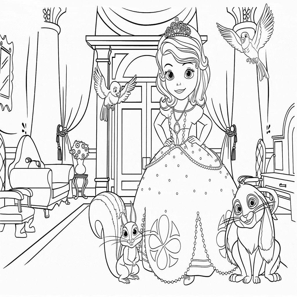 Dibujos De La Princesa Sofia Para Colorear Dibujos Disney Dibujos De