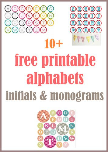 1000+ images about Printable letters on Pinterest | Display ...