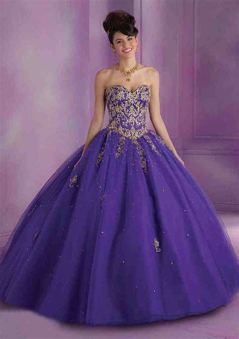 Purple And Gold Wedding Dresses   Wedding and Bridal