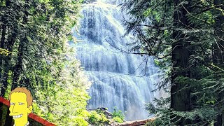 white cascading water of Bridal Veil Falls