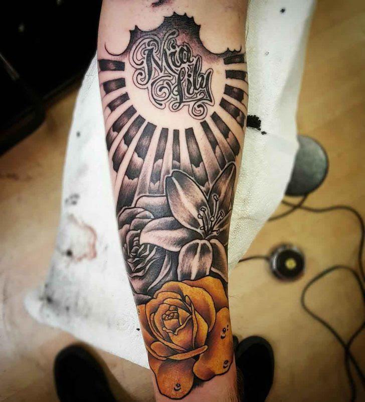 Mia Lily Arm Sleeve Tattoo Best Tattoo Ideas Gallery