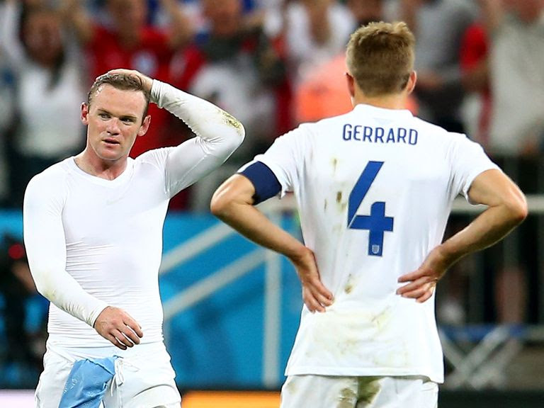Rooney and Gerrard-England out of world cup