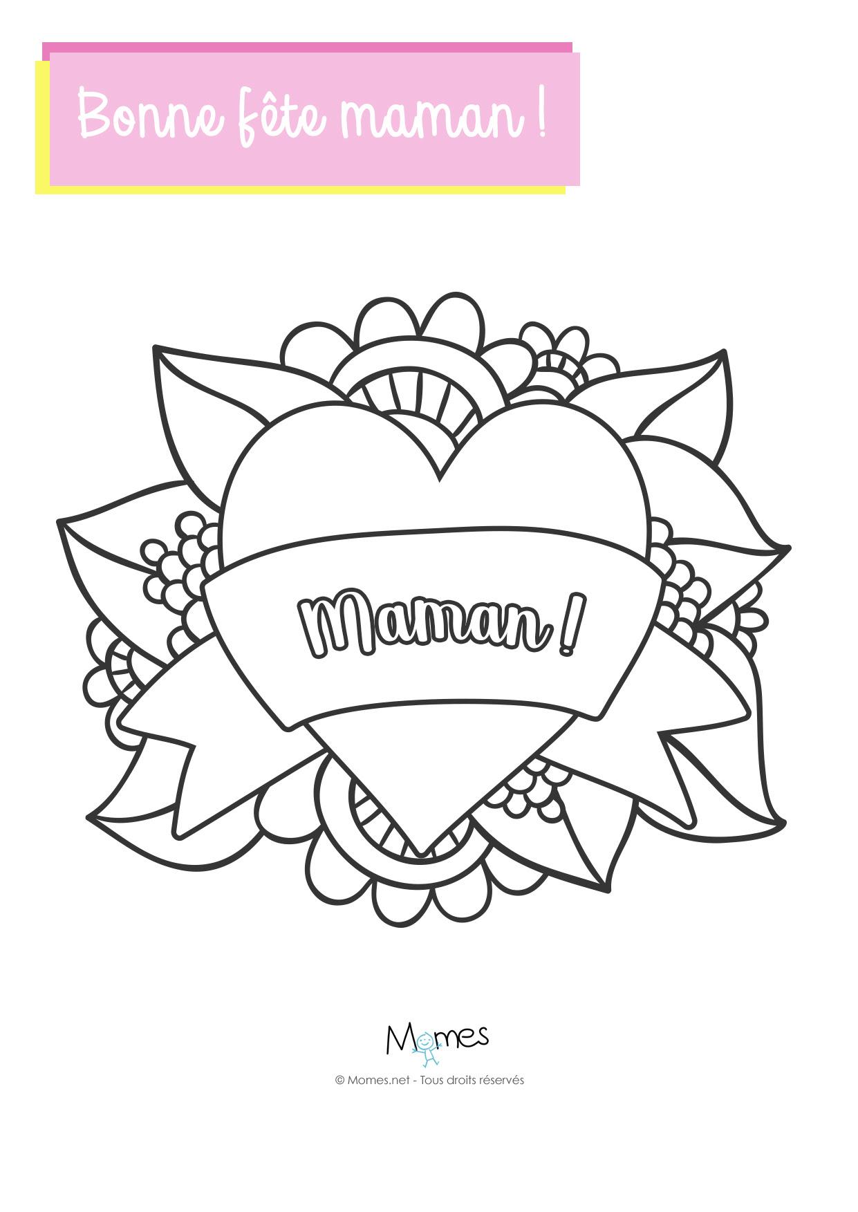 Coloriage Joli Coeur Pour Maman Momesnet