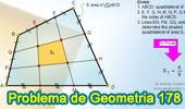 Problema de Geometría 178 (ESL): Cuadrilátero, Trisección de los lados, Relación de Áreas.