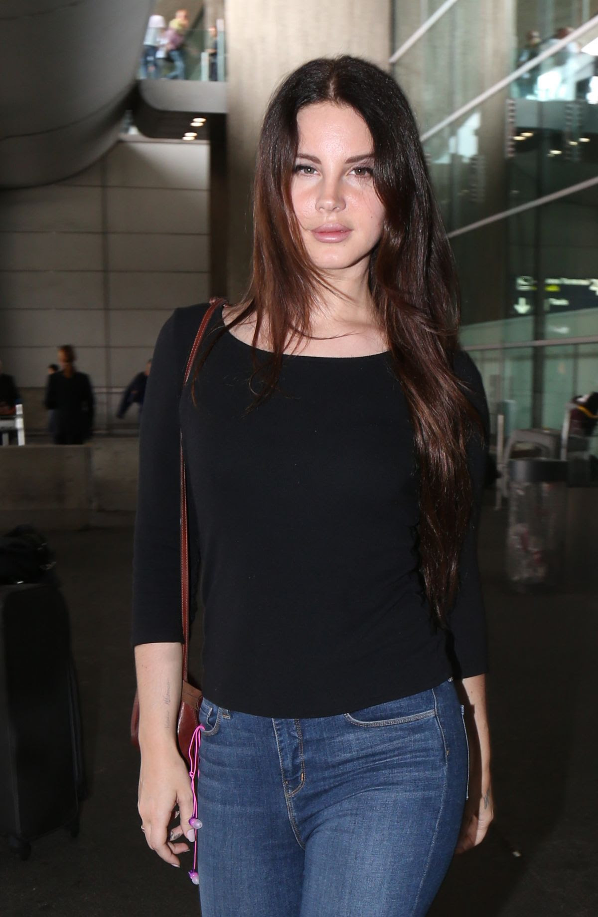 LANA DEL REY at Charles De Gaulle Airport in Paris 07/22/2017