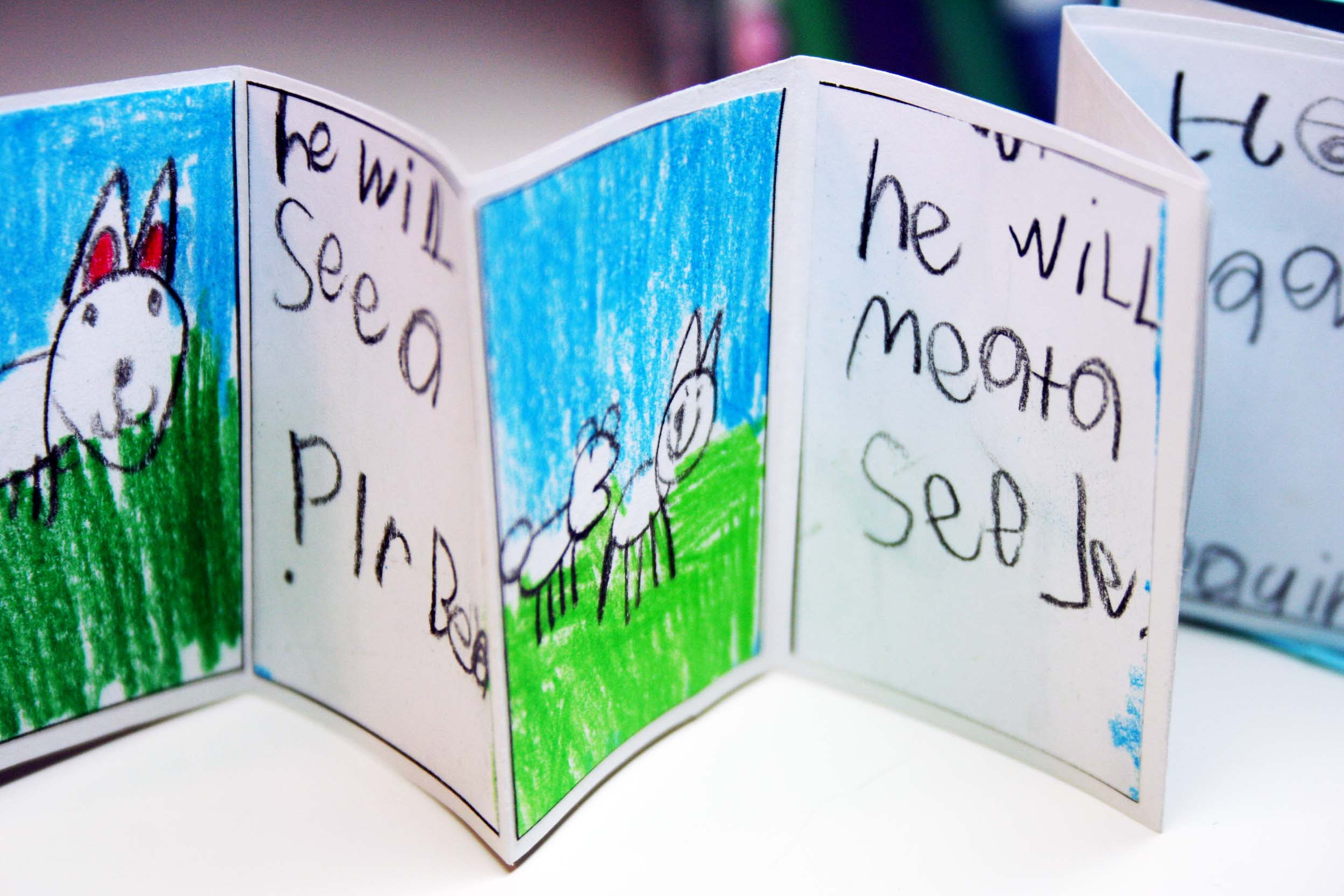 Childrens Handmade Book Exchange Round Four Bird And Little Bird