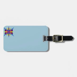 Luggage Tag with Art Deco Style Star