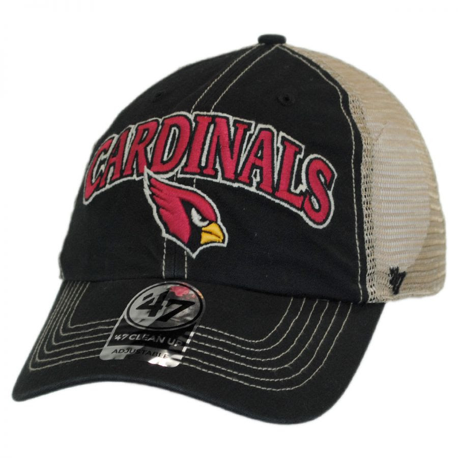 47 Brand Arizona Cardinals NFL Tuscaloosa Mesh Fitted Baseball Cap NFL Football Caps