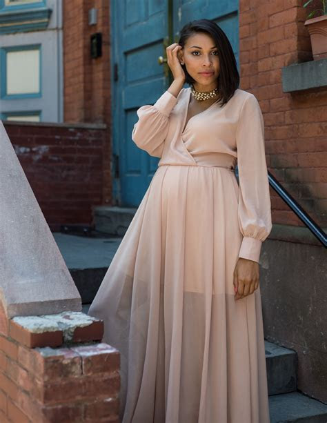 Romantic Floor Length Chiffon Dress   My Maternity Outfits