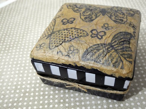 Faux Leather Trinket Box Lid