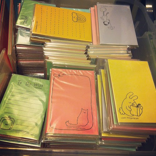 Box three of notepads from my Etsy shop. Yay getting organized.