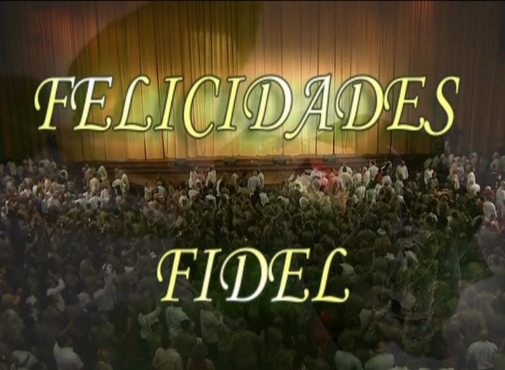 Cuba cantó Felicidades Fidel el día de su cumpleaños 90. (Foto: Radio Rebelde)