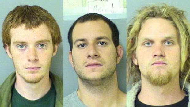 Brian Church, Jared Chase and Brent Vincent Betterly, known as the 'Nato Three'