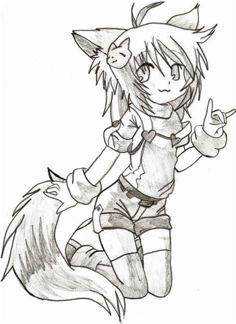 drawing cat girl  srtagiuu  deviantart
