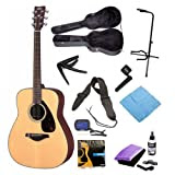 Yamaha FG700S Entry Level Acoustic Guitar with Yamaha Hardshell Vinyl Guitar Case, Onstage Guitar Tripod Stand...