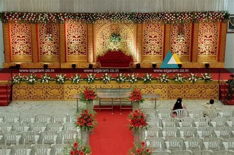 Reception and Marriage stage decoration at NT Mahal, 100ft