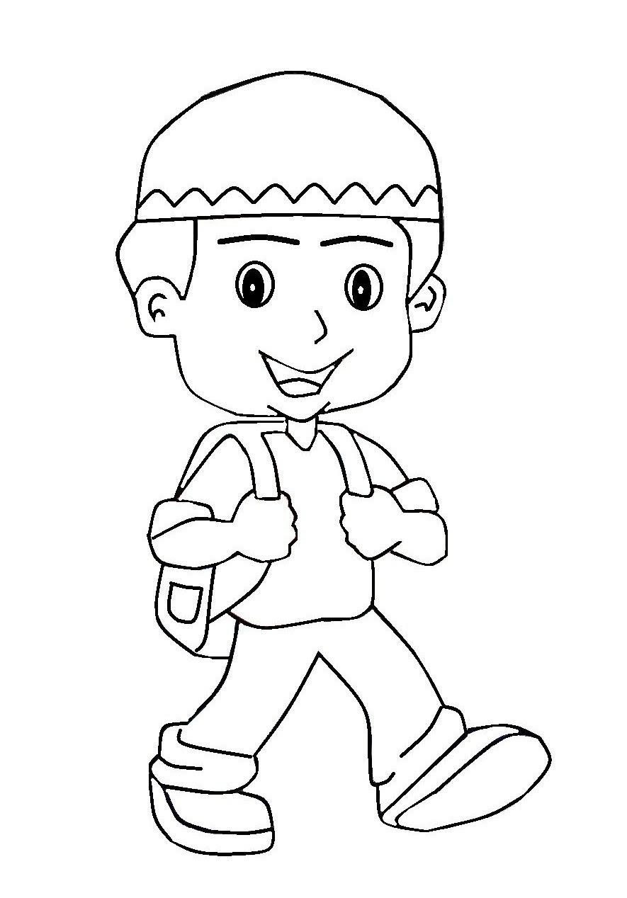 650+ Gambar Kartun Anak Islam Sekolah Gratis Terbaik