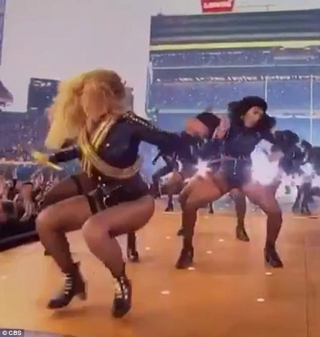 No stumbles here: Beyonce showed what a pro she is when if comes to her fancy footwork