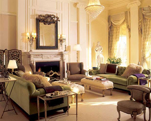 Victorian luxury in the living room