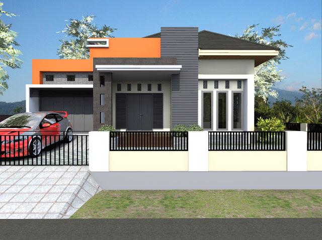 Gambar Rumah Modern Minimalis Tampak Depan Batu Alam Desain di Rebanas  Rebanas