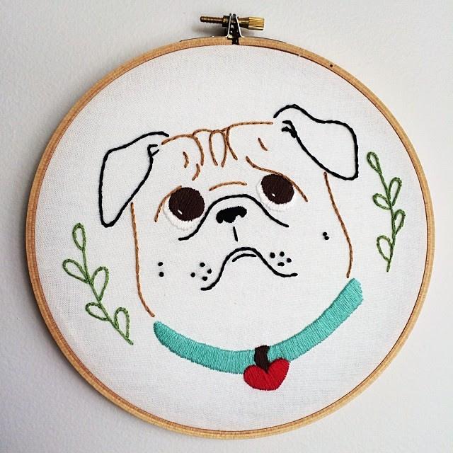 Pug crafting #embroidery #embroideryhoop #craft #pug #curlytailgang #pugstagram #pugsofinstagram