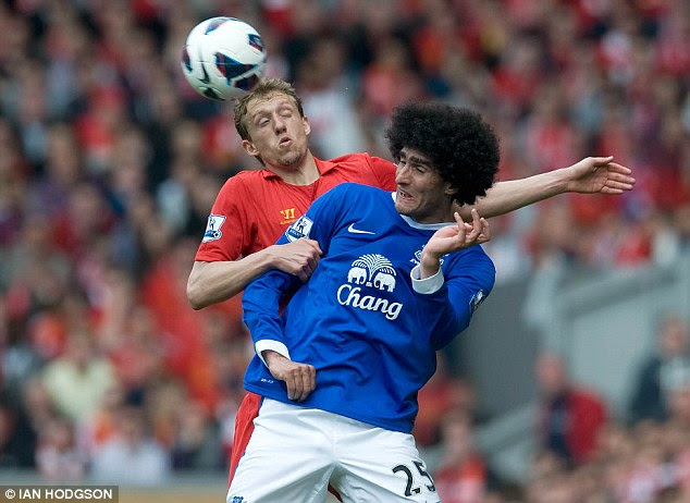 Missing out? Arsenal look set to be priced out of moves for Marouane Fellaini and Ashley Williams (below)