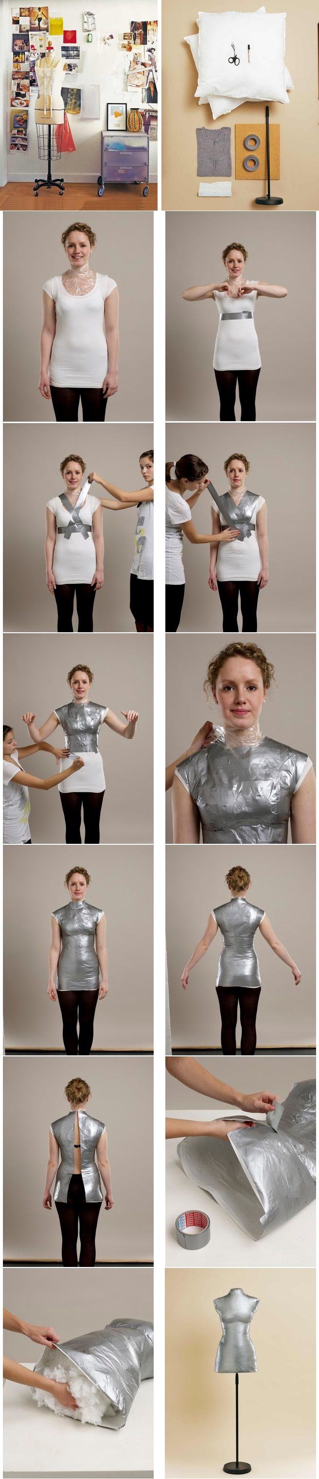 How to make your own dress form. I think making a dress form may be a good plan before diving into dress planning. . .