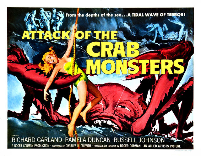 Albert Kallis - Attack of the Crab Monsters (Allied Artists, 1957) Half Sheet