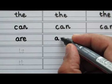Learn to write and read the, can, are, is, it