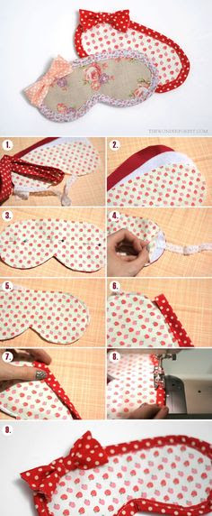 Easy Eye Mask Tutorial that anyone can make! (with pattern)